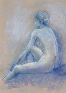 Blue Nude 01, by Ingeborg Bernhard (Schnorch)