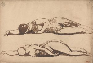 Sketches of a Prostrate Woman, by George Romney